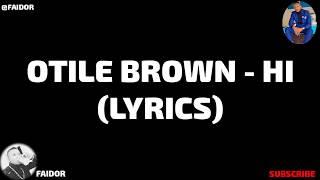 Otile Brown - Hi (Official Video Lyrics)