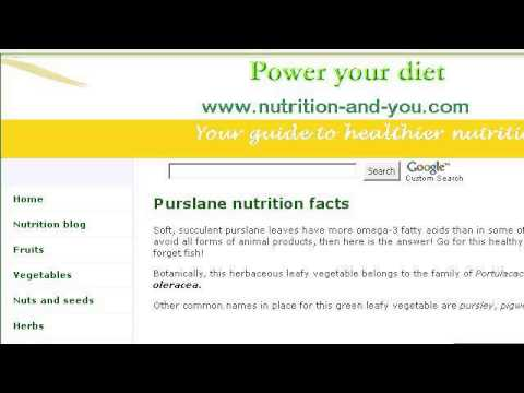 Purslane Nutrition