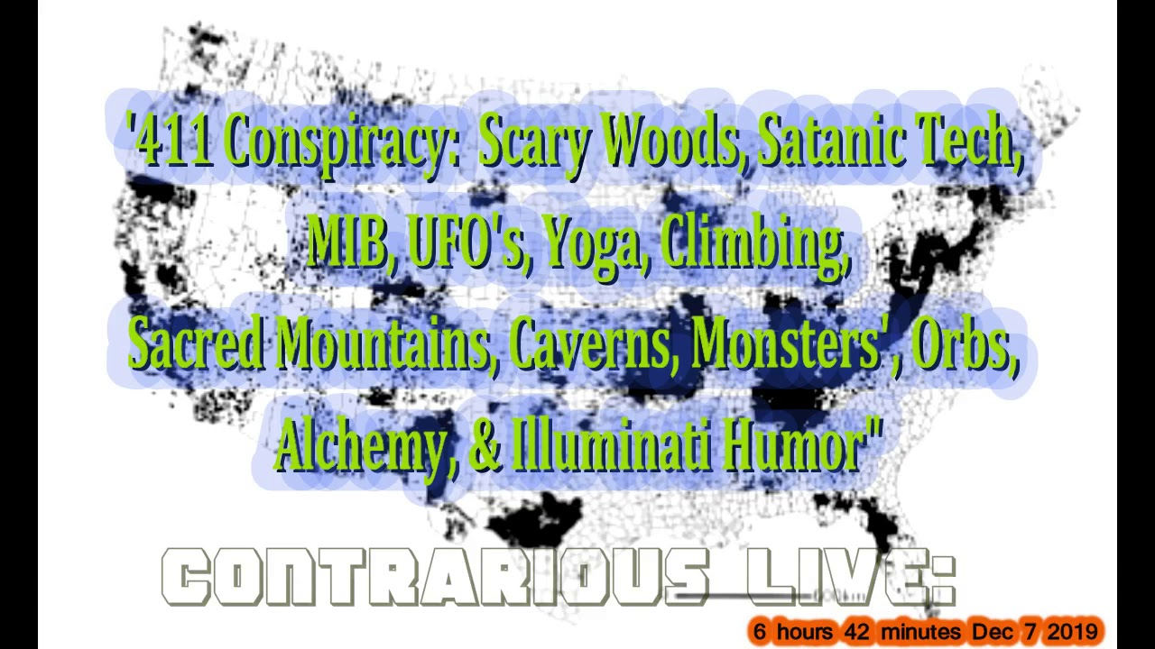 MISSING 411 Conspiracy:  Scary Woods, Satanic Tech, MIB, UFO's... Contrarious Live Dec 9, 2019