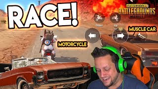 NEW MUSCLE CAR vs. MOTORCYCLE  - Which is FASTER? PUBG Mobile