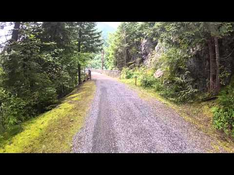 Iron Horse Trail, Bicycle Ride, Cedar Falls to Snoqualmie Tunnel - crossing the bridges
