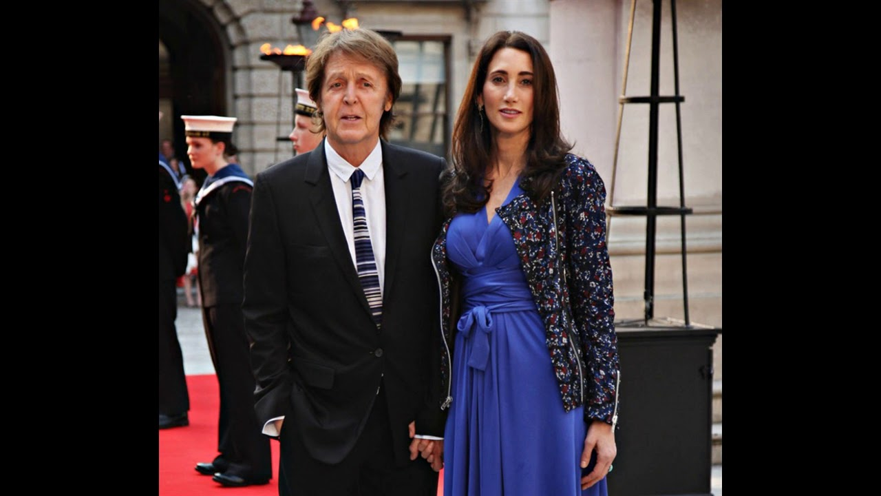 Singer Paul Mccartney With His Wife Nancy Shevell