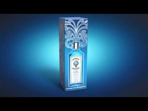 Lumious packaging for Bombay Sapphire