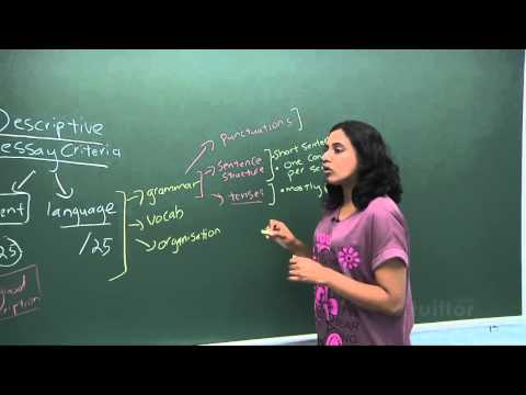 English Secondary 1/2 - Basic Level Composition Writing - Descriptive Essay Demo Video
