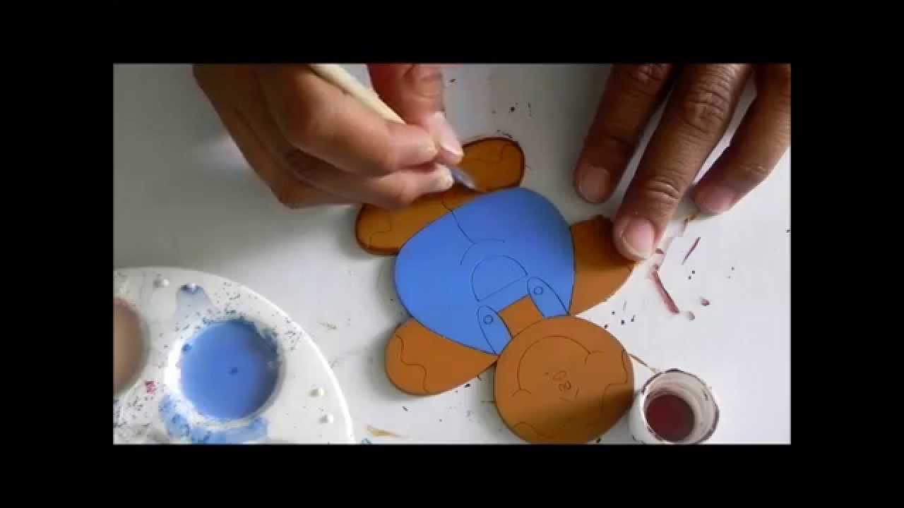 Madera country, Pintando unas galletas de jengibre - YouTube
