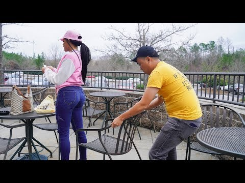Chair Pulling Prank in Orlando!!!