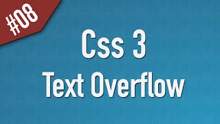 Learn Css3 in Arabic #08 - Text Overflow