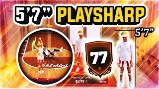 """MY 77 OVERALL 5'7"""" PLAYSHARP IS UNGUARDABLE - WORLDS SMALLEST DRIBBLE GAWD IN NBA 2k19"""