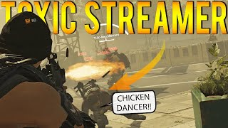 Toxic Streamer on the Floor & Bans Chat! (The Division 2)