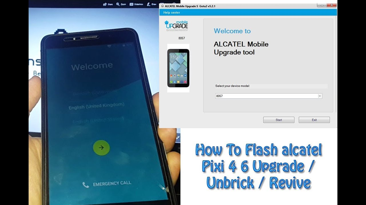 How To Flash alcatel Pixi 4 Upgrade / Unbrick / Revive