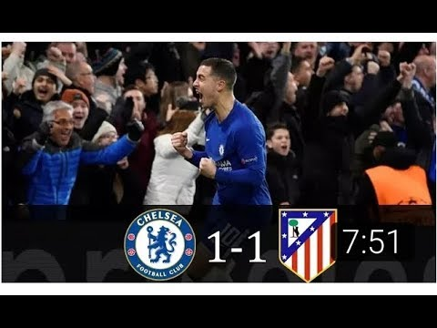 Chelsea vs Atletico Madrid 1-1 All Goals & Full Highlights  Champions League 5/12/2017