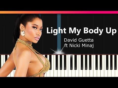 "David Guetta ft Nicki Minaj & Lil Wayne - ""Light My Body Up"" Piano Tutorial - Chords"