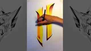 Speed Drawing: H Logo - By Nathan/Naythz