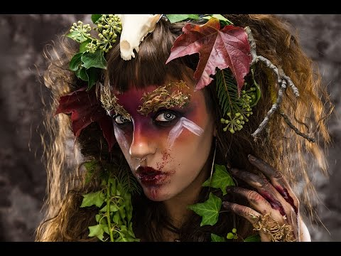 Dark Fairy/Nymph/Cannibal 🍁 Fata oscura 🎃 Halloween Makeup Tutorial