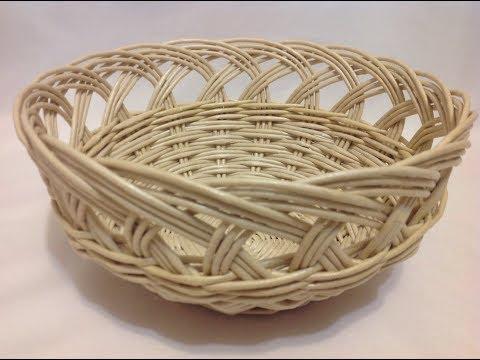 【DIY#24】📰Newspaper Weaving Tutorial・💮Basket With Openwork Top・Плетение из Газет・Мастер Класс с Ниной