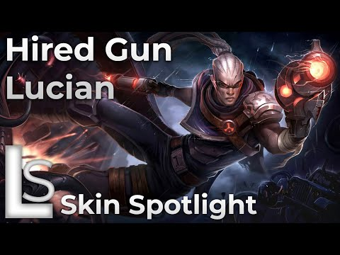 Hired Gun Lucian - Skin Spotlight - League of Legends - Patch 10.13.1