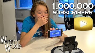 Reacting to One Million Subscribers! - THANK YOU! - Whitney Bjerken