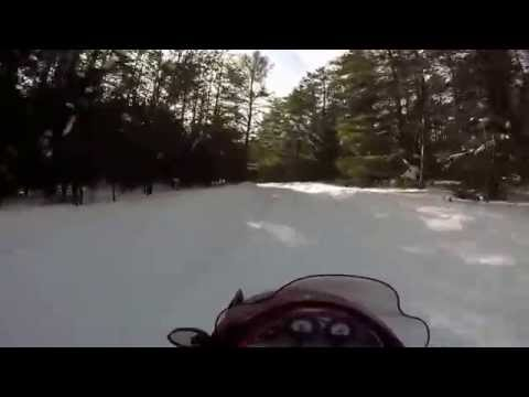 Snowmobiling through Northern Wisconsin