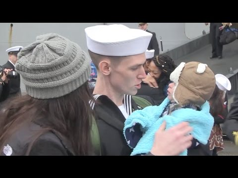 Christmas Homecoming After 6 Months At Sea