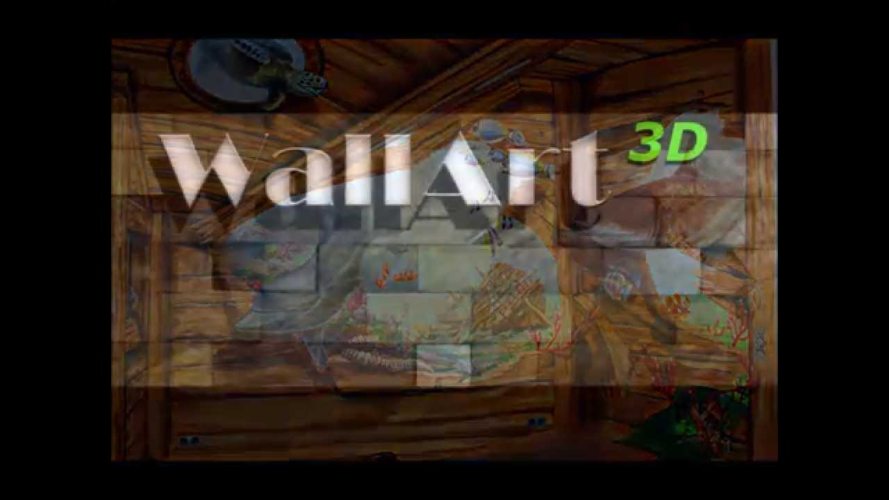 Hand Painted Murals, Illusion Painting On The Walls In Airbrush Technique    YouTube Part 92