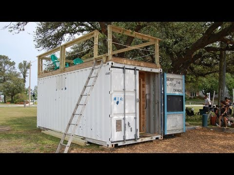 160 Sq Ft Custom Container Tiny Home With Roof Top Deck Youtube