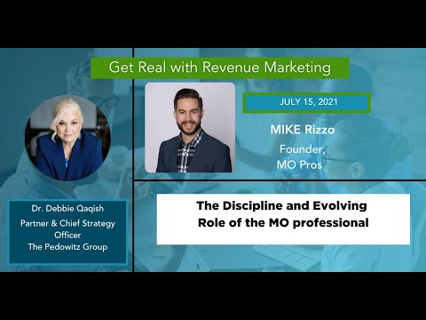 The Evolution of the Marketing Ops Professional | Mike Rizzo, Founder of MO Pros