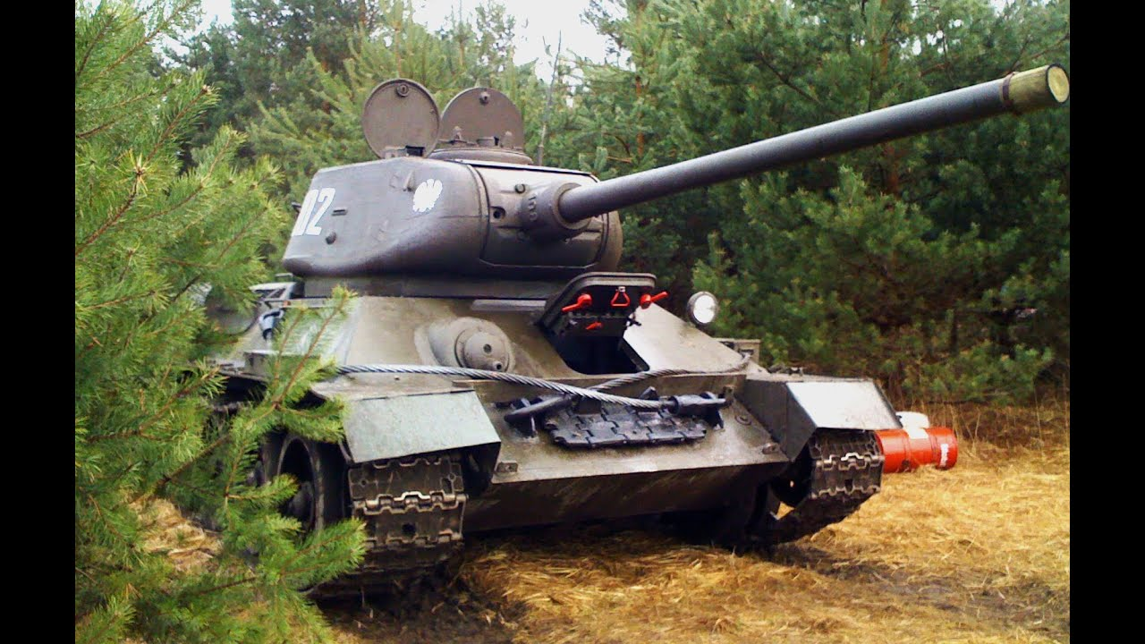 The REAL SOUND of T-34-85 TANK