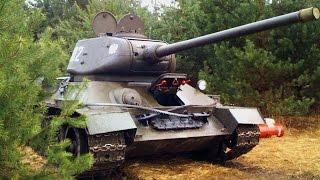 The SOUND of T-34-85 TANK - Polski Rudy 102