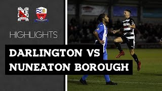 Darlington 1-2 Nuneaton Borough - Vanarama National League North - 2018/19