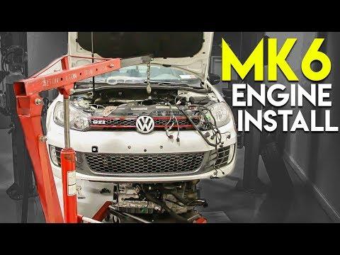 MK6 Engine Install + First Start up!   Part 2