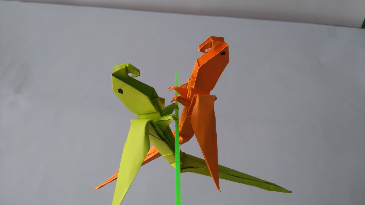 Origami Animal How To Fold An Macaw Parrot Step By Parrotdiagram Barth Dunkan Ecorigami