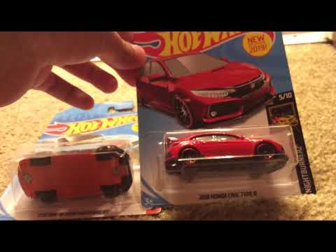 2019 Hotwheels Ford Mustang And Honda Civic Type R