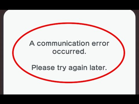 Fix A communication error occurred.Please try again later|Support Code 804-6200