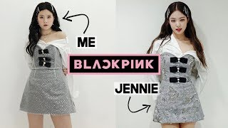 I Made & Turned Into Blackpink Jennie (Solo Outfit & Hair) | Q2HAN