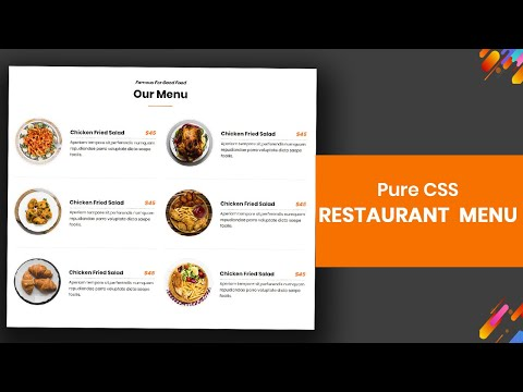 Create An Awesome Restaurant Menu | Pure CSS & Flexbox