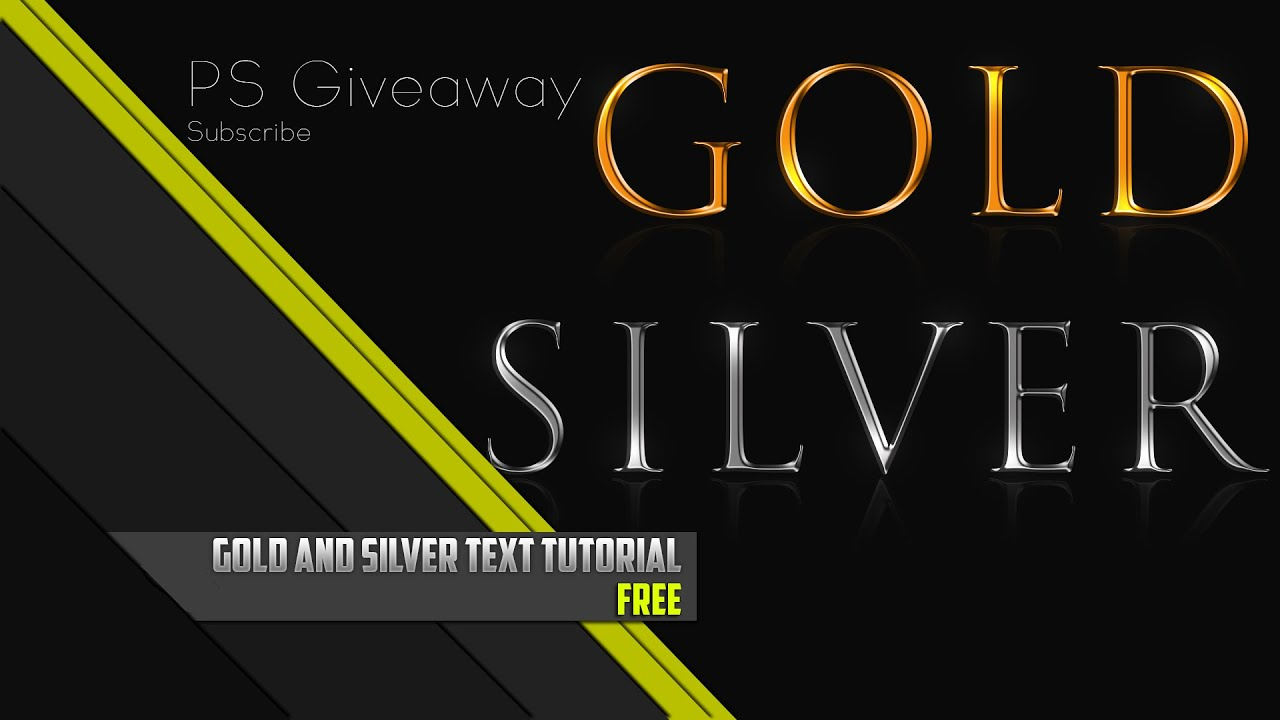 Gold Amp Silver Text Effect Tutorial Photoshop Youtube