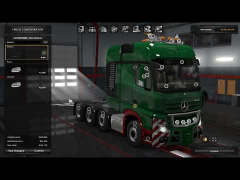 Euro Truck Simulator 2 - Tuning Mercedes Benz  and a Difficult Haul