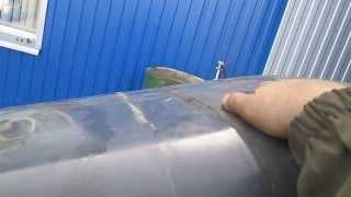 Пропарка топливного бака перед сваркой(Заливаю пару ведер воды. Когда начинает кипеть, минут через 15 и начинаю варить. Видео не полное получилось,..., 2014-01-25T14:01:34.000Z)