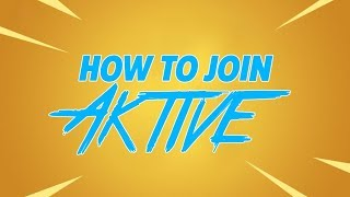 Aktive Recruitment Fortnite Tournament | Free Entry | Win Some Money |