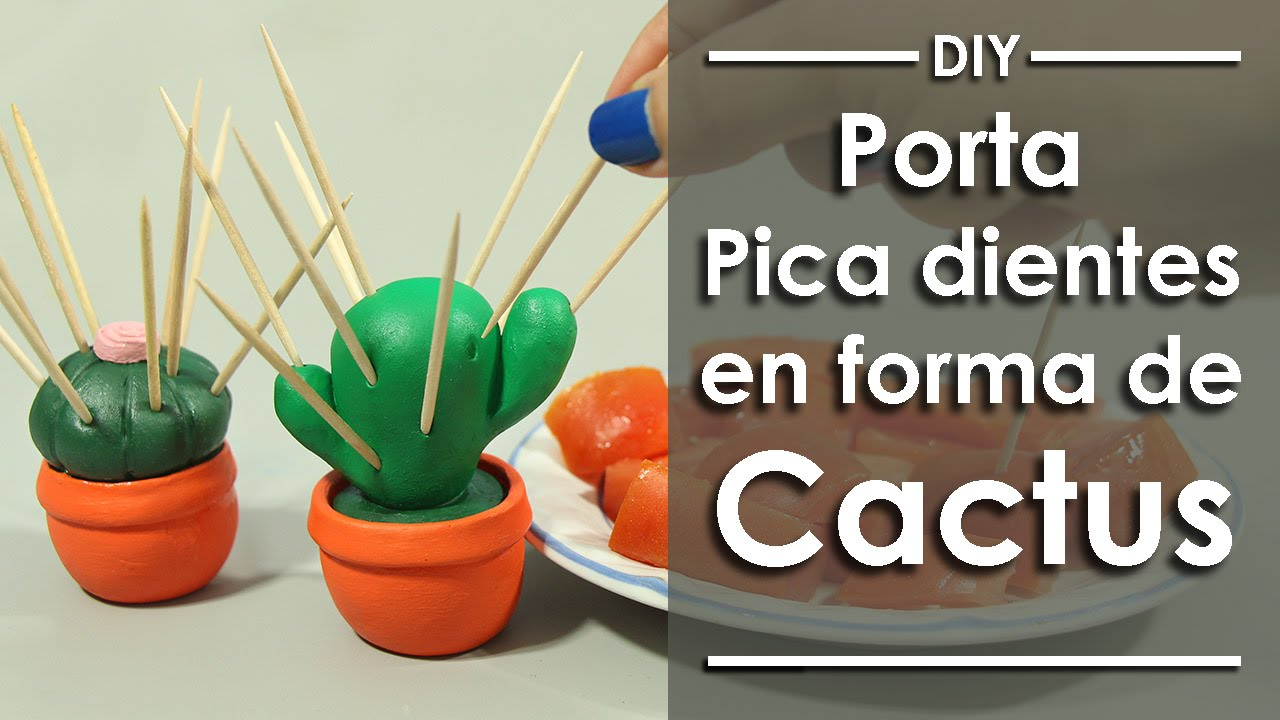 Porta Picadientes en forma de Cactus - DIY - YouTube