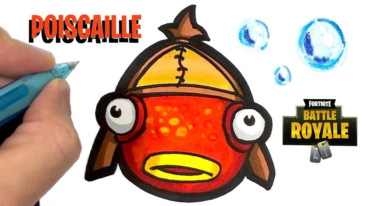 HOW TO DRAW FISHSTICK EMOJI - FORTNITE