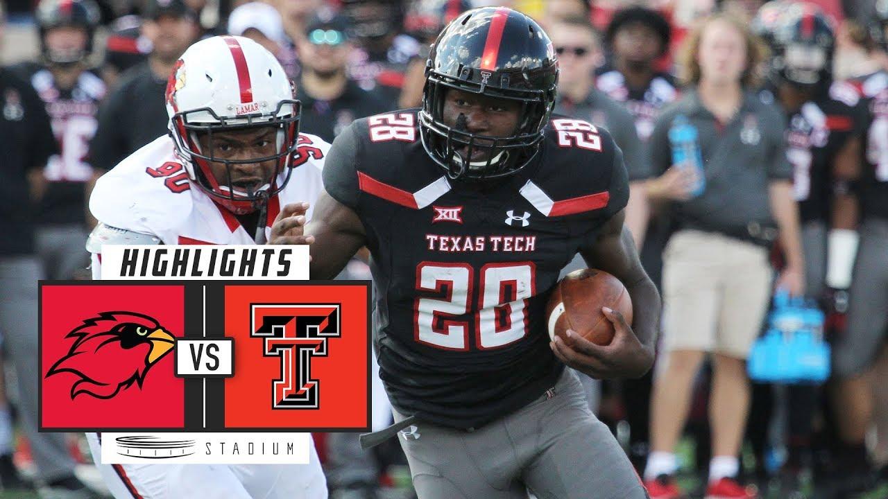 Lamar Vs Texas Tech Football Highlights 2018 Stadium Youtube