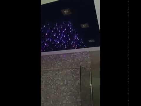 kit cielo stellato installato in doccia -- cromoterapia fibra ... - Luci Soffitto Stellato