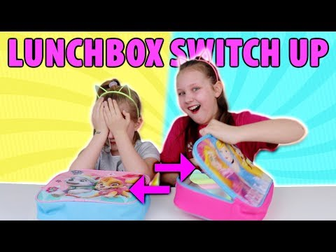 LUNCHBOX SWITCH UP CHALLENGE!! GUMMY vs SQUISHY vs REAL FOOD!!