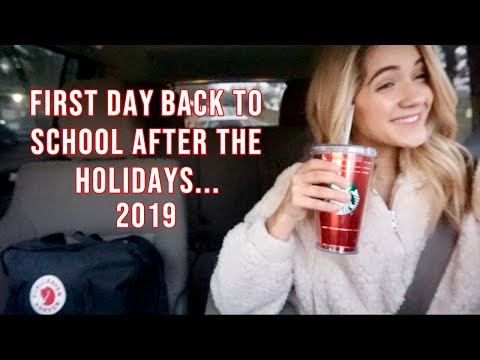 first day back to school 2019: junior year (post winter break)