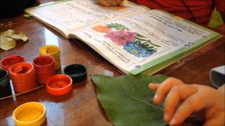 Vlog:Данил с утра насмешил. Делаем поделки в садик.  Уроки в школу.