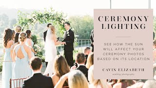 How the Sun Affects Ceremony Photos for Better or Worse | Ceremony Timing