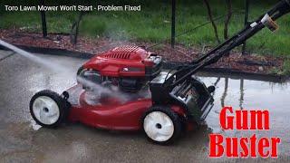 Toro Lawn Mower Won't Start - Problem Fixed