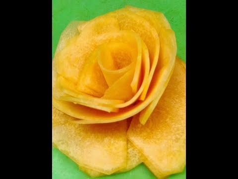 How to make a cantaloupe flower