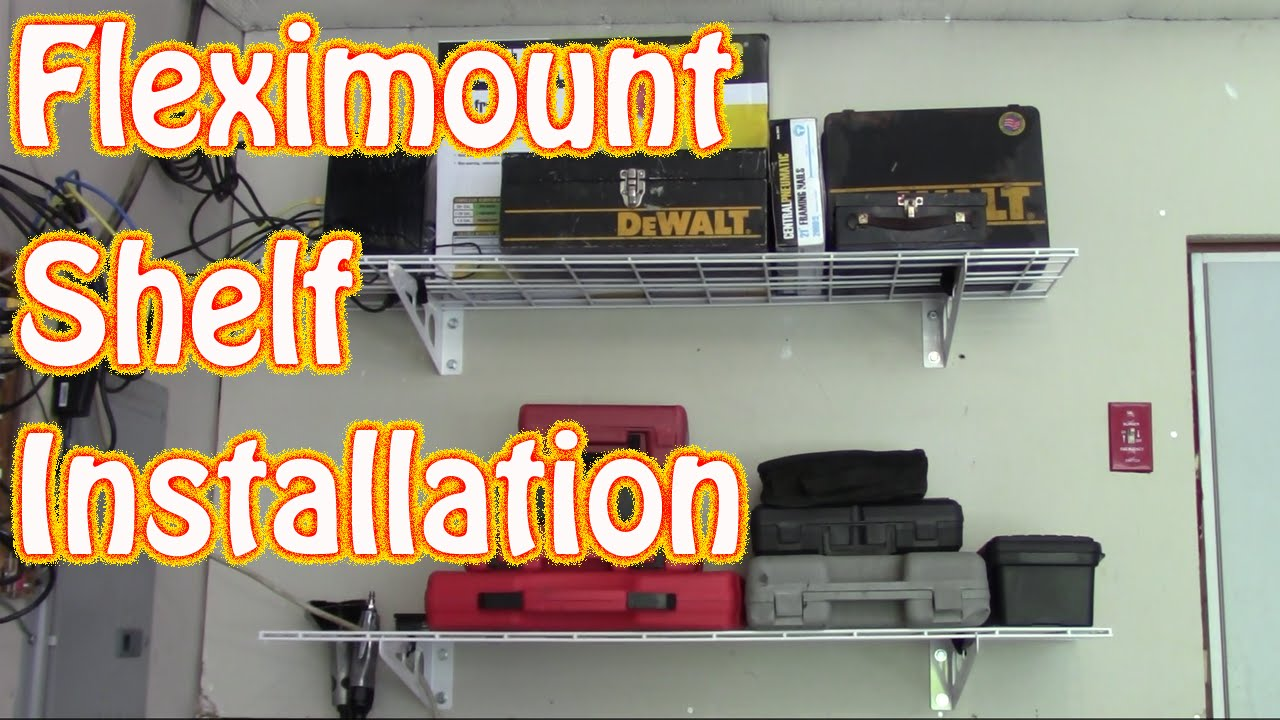 DIY Fleximount 2 Pack 1x4ft 12 Inch By 48 Inch Wall Shelf Installation And  Review ~ Garage Storage